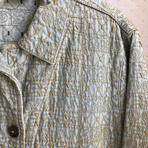 Embroidered TENCEL Denim Jacket 1990s